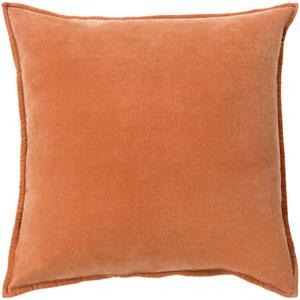 Cotton Velvet Orange 22-Inch Pillow Cover
