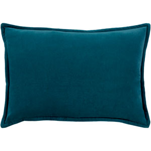 Cotton Velvet Teal 13 x 19 In. Throw Pillow