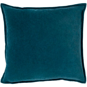 Cotton Velvet Blue 20-Inch Pillow Cover