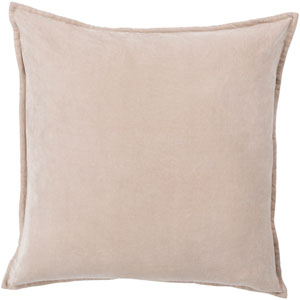 Cotton Velvet Neutral 22-Inch Pillow Cover