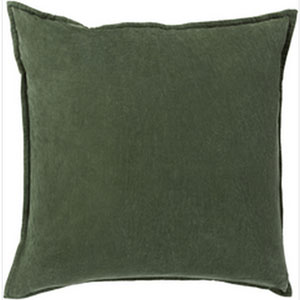 Smooth Velvet Emerald 18-Inch Pillow with Down Fill