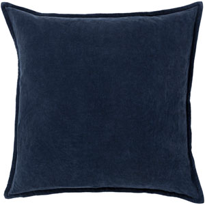 Cotton Velvet Gray 20-Inch Pillow Cover