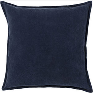 Smooth Velvet Charcoal 22-Inch Pillow with Poly Fill
