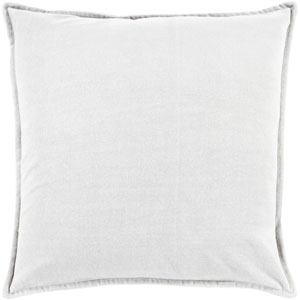 Ava Grace Light Gray 22-Inch Pillow with Down Fill