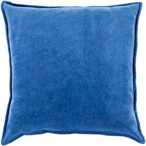 Cotton Velvet Blue 20-Inch Pillow Cover