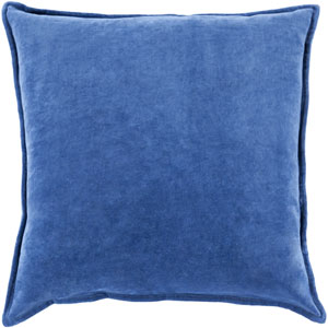 Ava Grace Cobalt 20-Inch Pillow with Poly Fill