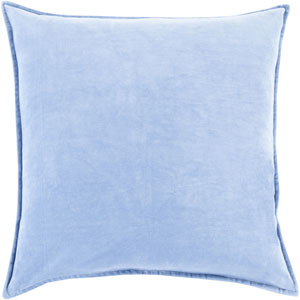 Ava Grace Sky Blue 18-Inch Pillow with Poly Fill