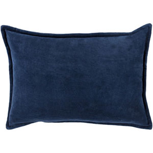 Ava Grace Navy 20-Inch Pillow with Down Fill