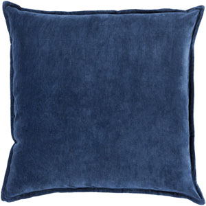 Ava Grace Navy 22-Inch Pillow with Poly Fill