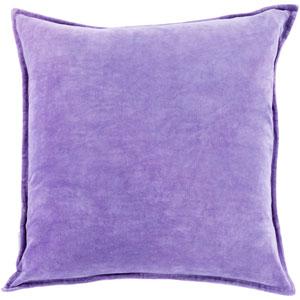 Cotton Velvet Purple 22-Inch Pillow Cover