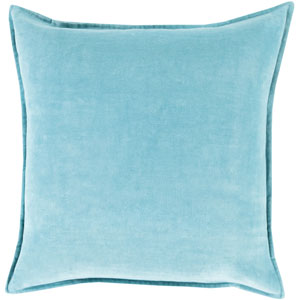 Ava Grace Sky Blue 22-Inch Pillow with Poly Fill