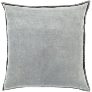 Ava Grace Light Gray 22-Inch Pillow with Poly Fill