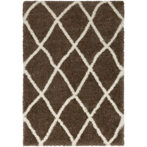 Cloudy Shag Camel and White Rectangular: 2 Ft. x 3 Ft. Rug
