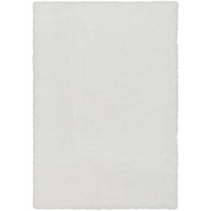 Cloudy Shag White Rectangular: 2 Ft. x 3 Ft. Rug