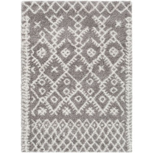 Cloudy Shag Neutral Rectangle: 6 Ft. 7 In. x 9 Ft. 6 In. Rug