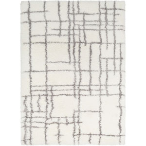 Cloudy Shag Neutral Rectangle: 5 Ft. 3 In. x 7 Ft. 3 In. Rug