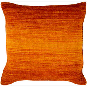 Chaz Tangerine and Burnt Orange 22-Inch Pillow with Poly Fill