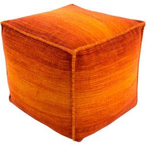Chaz Orange Cube Pouf