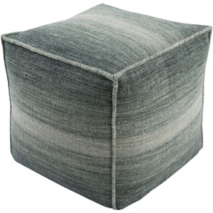 Chaz Gray and Green Cube Pouf
