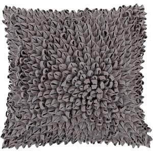 Dahlia Gray 22-Inch Pillow Cover
