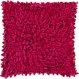 Perfect Petal Magenta 20-Inch Pillow with Poly Fill