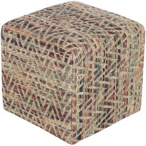 Dahlia Purple Cube Pouf