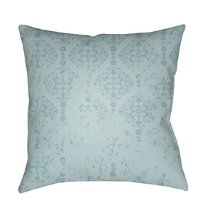 Moody Damask Mint and Aqua 22 x 22-Inch Pillow
