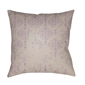 Moody Damask Light Gray and Lilac 18 x 18-Inch Pillow