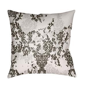 Moody Damask Medium Gray and Black 20 x 20-Inch Pillow