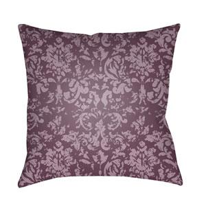 Moody Damask Dark Purple and Bright Purple 18 x 18-Inch Pillow