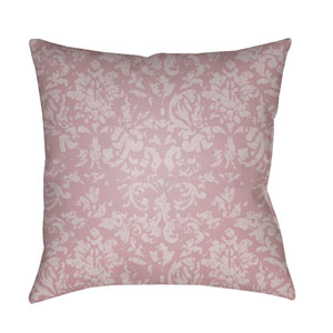 Moody Damask Lilac and Rose 22 x 22-Inch Pillow
