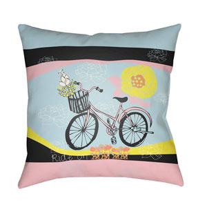 Doodle Multicolor 22 x 22-Inch Pillow
