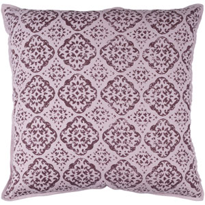 Mauve and Dark Purple 20 x 20-Inch Pillow Cover