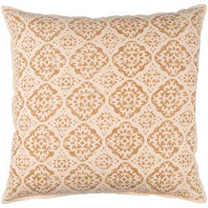 Beige and Camel 18 x 18-Inch Pillow Cover