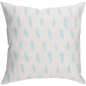 Spots Blue and Beige 20 x 20-Inch Throw Pillow