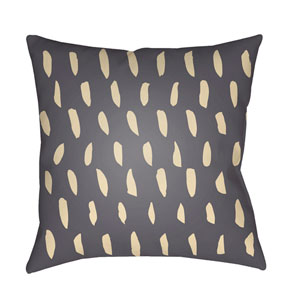 Spots Gray and Beige 18 x 18-Inch Throw Pillow