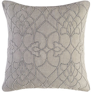 Dotted Pirouette Gray 18-Inch Pillow Cover
