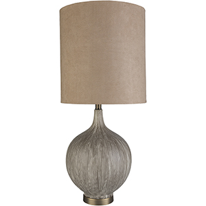 Drake Charcoal One-Light Table Lamp