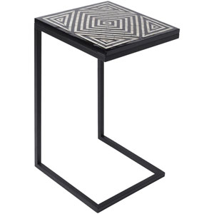 Dunn Black and Cream Accent Table