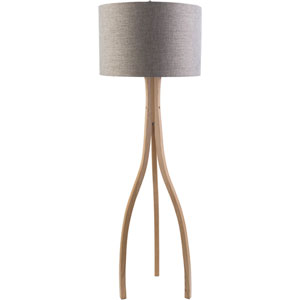 Duxbury Natural Wood One-Light Floor Lamp
