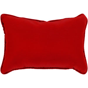 Essien Bright Red 16 x 16 In. Throw Pillow
