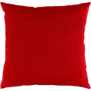 Essien Bright Red 20 x 20 In. Throw Pillow