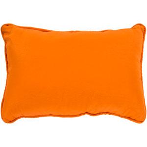 Essien Bright Orange 16 x 16 In. Throw Pillow