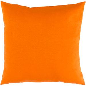Essien Bright Orange 20 x 20 In. Throw Pillow