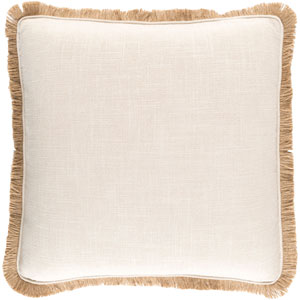 Ellery Neutral and Brown 18-Inch Pillow Cover