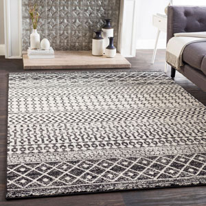 Elaziz Black Rectangle: 2 Ft. x 3 Ft. Rug