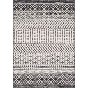 Elaziz Black Rectangle: 5 Ft. 3 In. x 7 Ft. 6 In. Rug