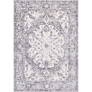 Elaziz Gray and White Rectangle: 7 Ft. 10 In. x 10 Ft. 3 In. Rug