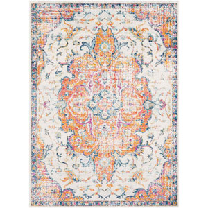 Elaziz Orange Rectangle: 5 Ft. 3 In. x 7 Ft. 6 In. Rug