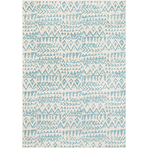 Elaziz Aqua Rectangular: 7 Ft. 10 In. x 10 Ft. 3 In. Rug